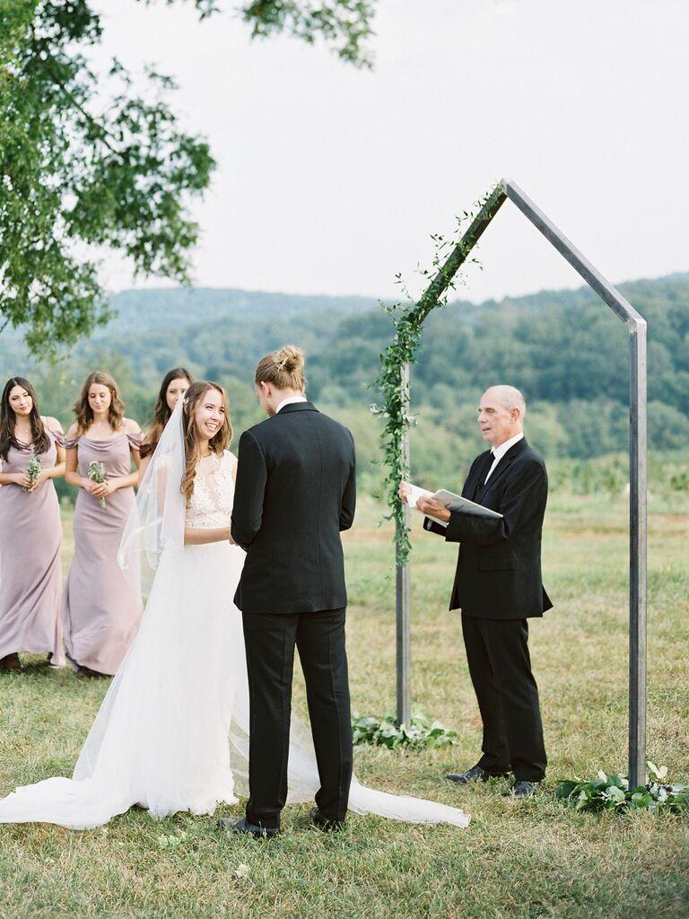 house-shaped wedding arch
