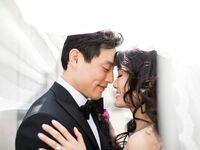 Couple on wedding day.