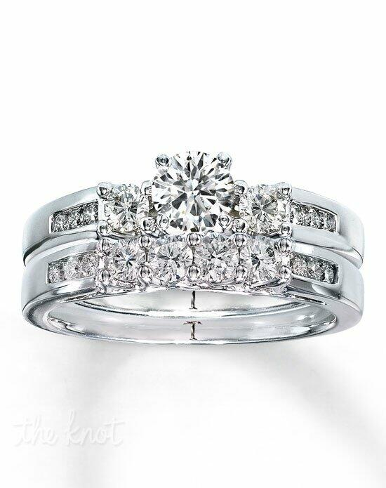 Tolkowsky Diamond Bridal Set 1 ct tw Round-cut 14K White Gold-990743600 Engagement Ring photo