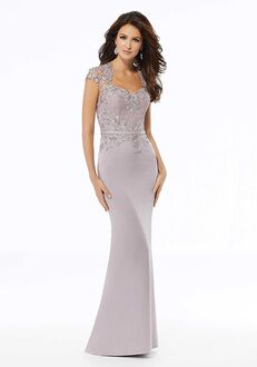 MGNY 72125 Blue,Purple,Gray Mother Of The Bride Dress