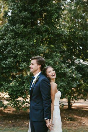 Bride and Groom in Wedding Photoshoot at Eden Gardens State Park in Santa Rosa Beach, Florida