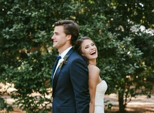"""Even before they were engaged, Emily and Wade (Field) knew they'd return to Eden Gardens State Park one day for their wedding. """"I love that while you'"""