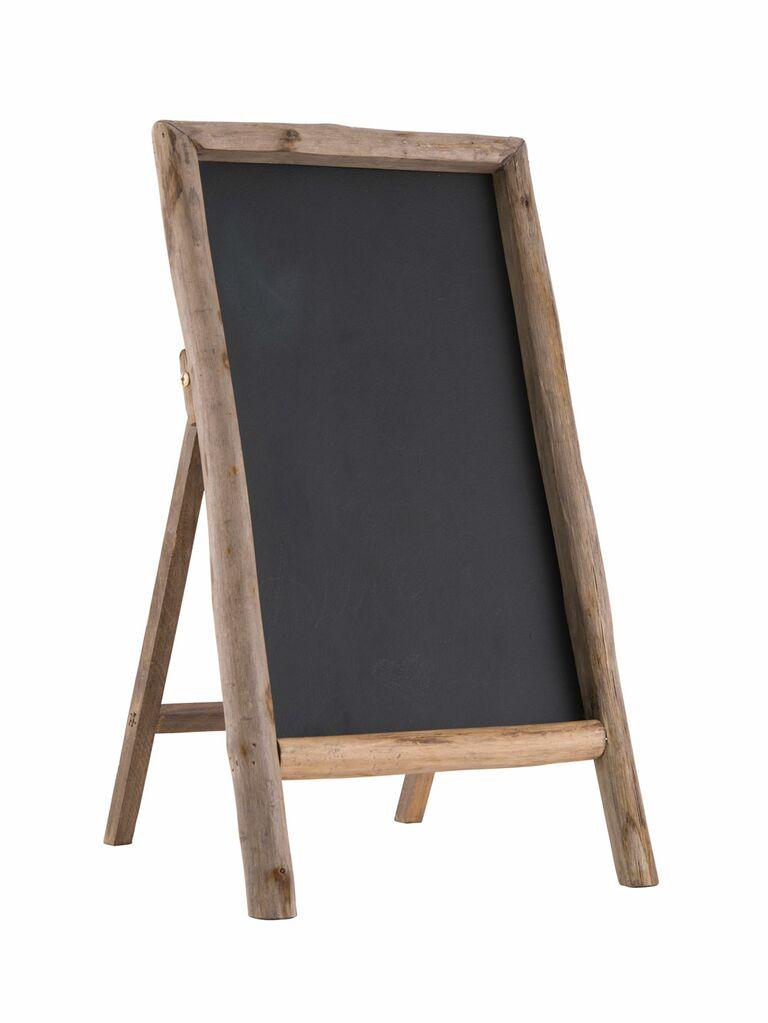 Rustic chalkboard wedding welcome sign
