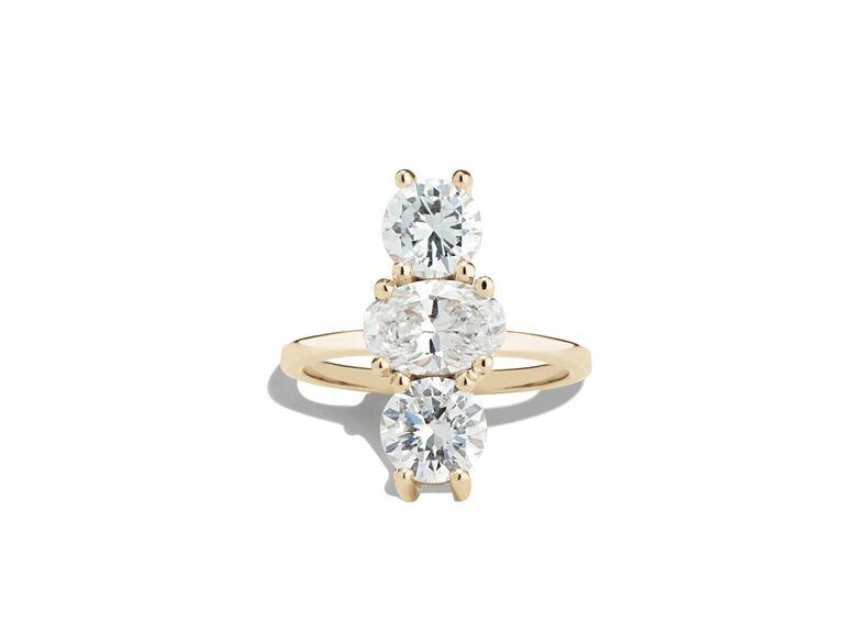 Bario Neal three stone engagement ring