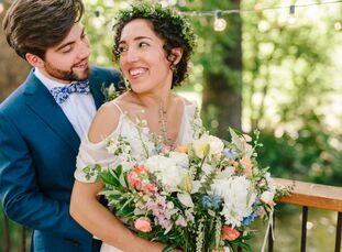 """AlimaLindsey and David Gibson planned a fun-loving wedding with a romantic, bohemian aesthetic. """"I always tease my husband that almost every single p"""