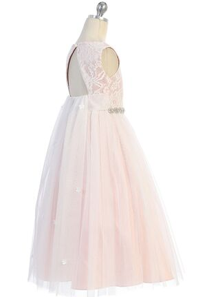 Kid's Dream Waterfall Dress Pink,White,Ivory Flower Girl Dress
