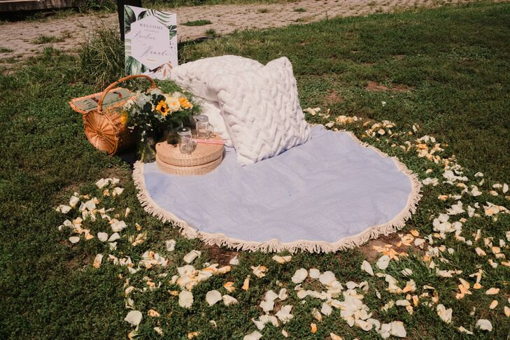 Blanket for Picnic Wedding at Prospect Park in Brooklyn