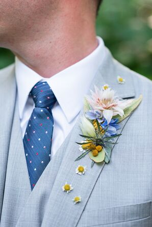 Boutonniere for Wedding at Anthony Chapel in Hot Springs, Arkansas