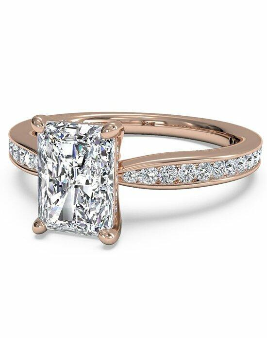 Ritani Radiant Cut Tapered Channel-Set Diamond Band Engagement Ring in 18kt Rose Gold (0.38 CTW) Engagement Ring photo