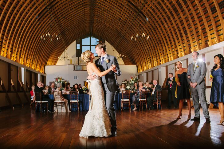 """The couple danced to """"I Wanna Dance With You"""" by George Strait, who Ryan wanted to be a back-up singer for while growing up! """"We always found ourselves singing this song and dancing to it when it was just the two of us,"""" she says."""