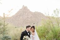 Drawing upon the dusty peach and sage hues seen in the surrounding desert, Fatima and Eric planned a beautiful wedding celebration at the Four Seasons