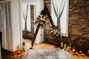 Wood Arch for Intimate Pandemic Elopement in Missouri