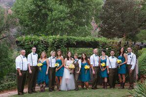 Turquoise Wedding Party in Sedona, Arizona