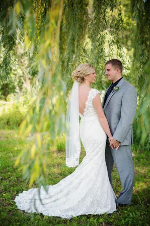 Lace Allure Wedding Dress with Low Back