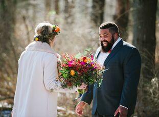 Walking in a winter wonderland, indeed. This seasonal wedding filled with boho style truly reflectedPaula Bartosiewicz (27 and a creative wedding and