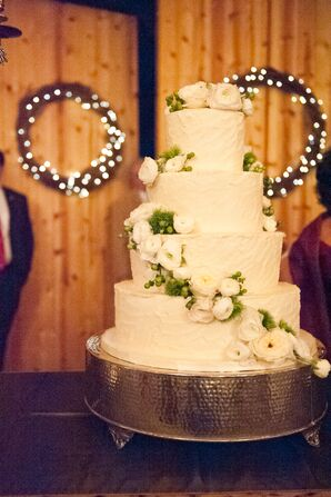 Traditional White Tiered Buttercream Cake