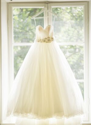 Allure Bridal Ball Gown With a Floral Sash