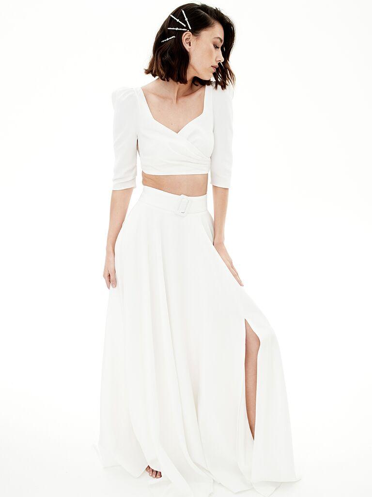Rime Arodaky two piece wedding dress