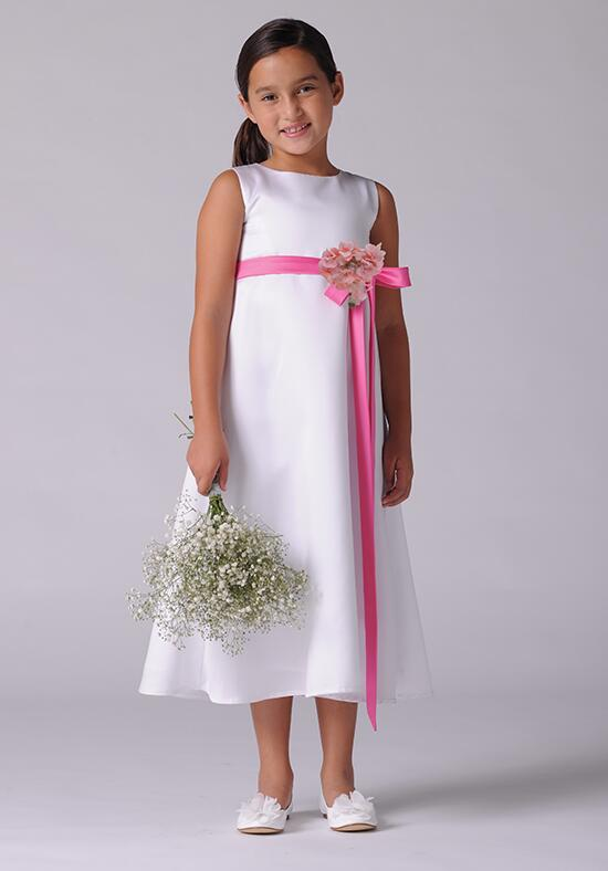 Us Angels Beautiful Color Satin A-line Customizable-305 Flower Girl Dress photo