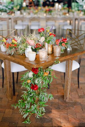 Garland-Accented Sweetheart Table