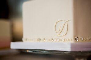 White Initial Cake