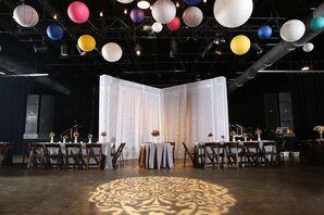 Farmhouse-Style Tables at Concert Venue Reception