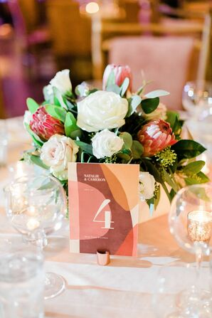Table Number in Shades of Earth Tones