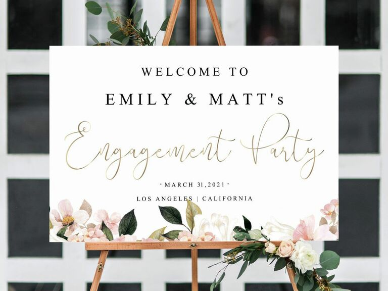 engagement welcome sign