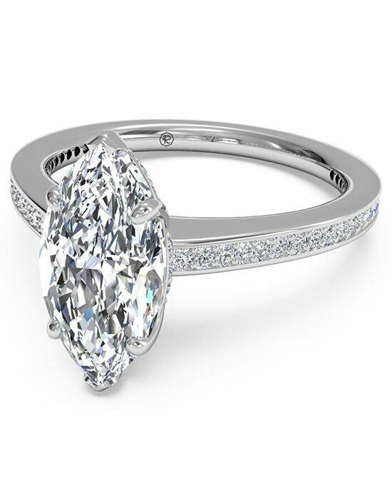 Ritani Marquise Cut Diamond Micropave Band Engagement Ring in Platinum (0.20 CTW) Engagement Ring photo