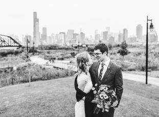 Caroline Bowden (an actuary) and Brent Campbell (a software developer) tied the knot October 27. Caroline and Brent embraced the spooky timing of thei