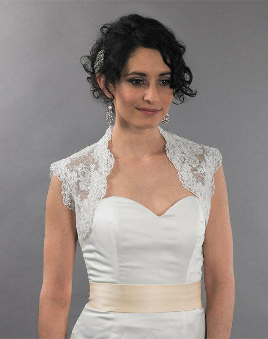 Tulip Bridal Sleeveless Ivory Lace Bolero Jacket with Keyhole Back Wedding Jackets photo