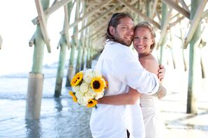 Ashley and Dustin's Relaxed Folly Beach Wedding