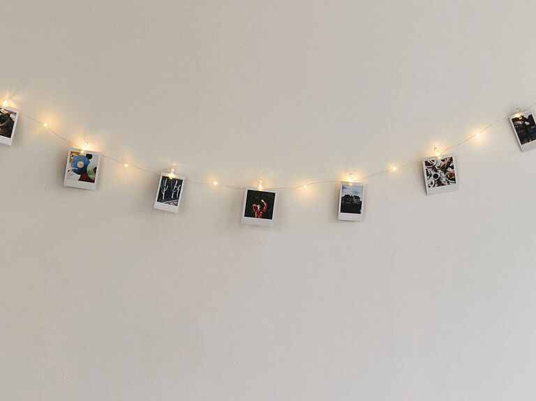 string lights with photos