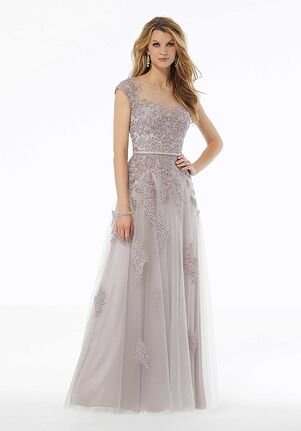 MGNY 72123 Pink,Gray Mother Of The Bride Dress