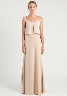 Jenny Yoo Collection (Maids) Brie V-Neck Bridesmaid Dress
