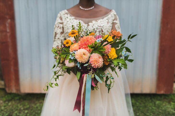 Bright Bridal Bouquet at The Philadelphia Glider Council in Perkasie, Pennsylvania