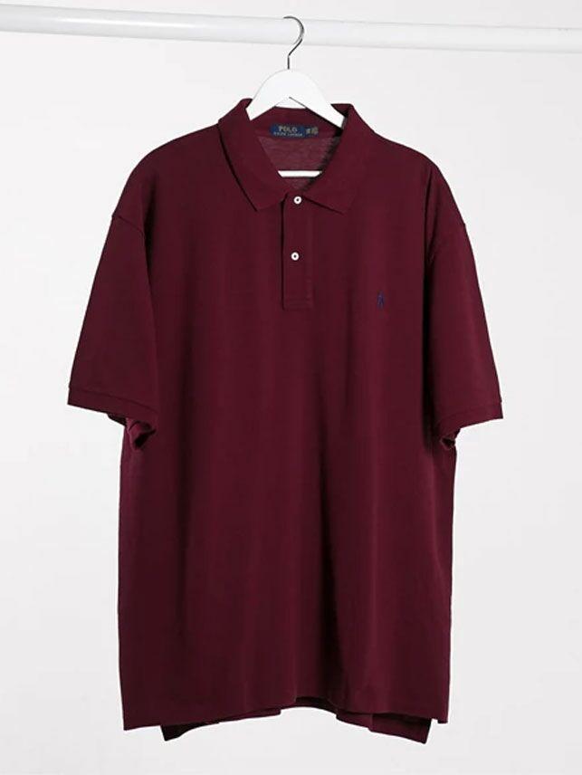 Maroon polo shirt