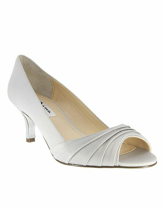 Nina Bridal CAROLYN_SILVER LUSTER SATIN Wedding Shoes photo