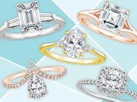 Fancy-cut diamond engagement rings