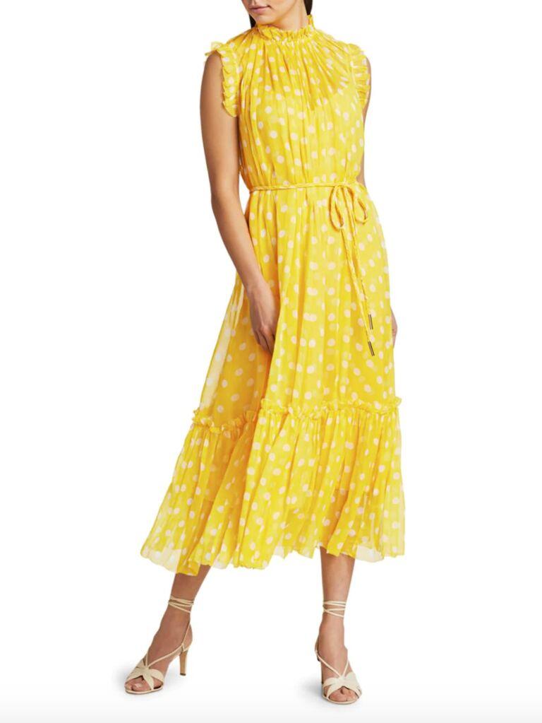 Zimmermann Brightside frill polka dot midi dress