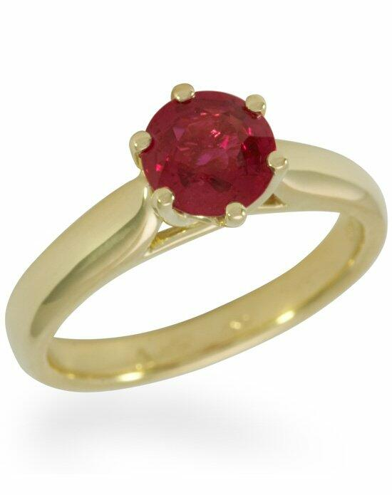 Diamond Ideals Royal Windsor Engagnement Ring with a Ruby-CUSTA0114 Engagement Ring photo