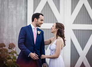"""Katherine Prescott and Vin Vacanti put Vermont's natural beauty on show with a romantic barn wedding in the foothills of the Green Mountains. """"We want"""