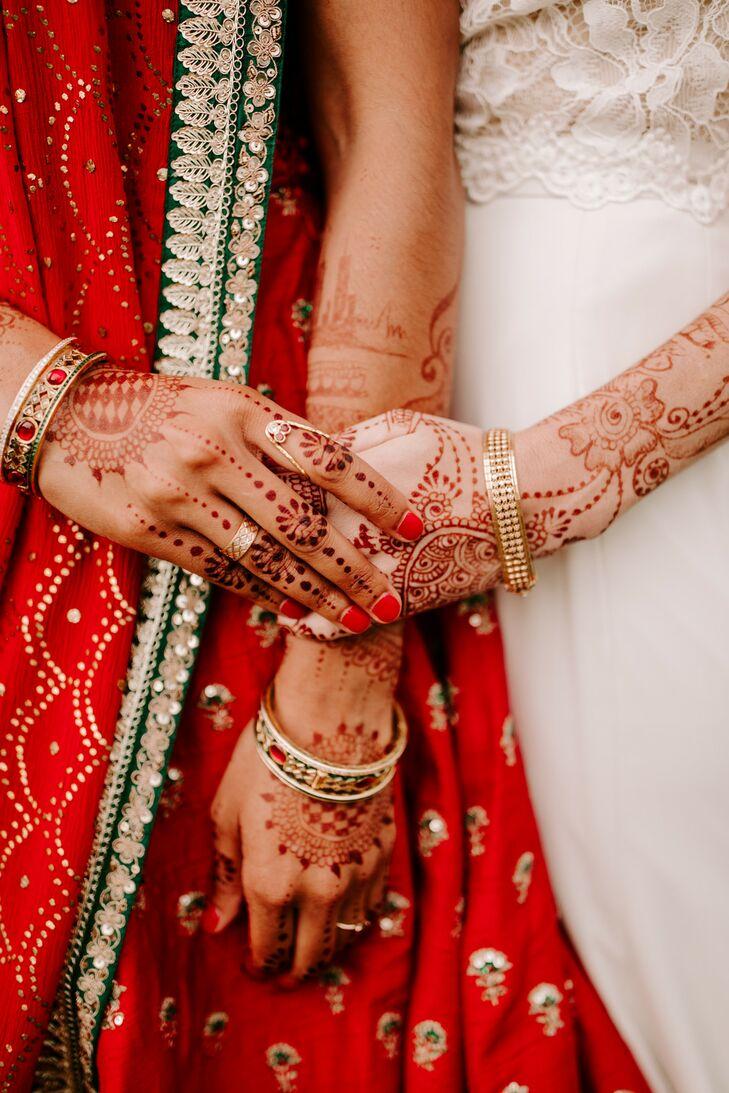 Henna for Wedding at Misty Farm in Ann Arbor, Michigan