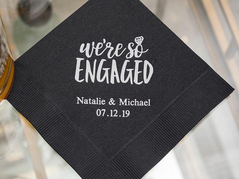 we're so engaged napkins