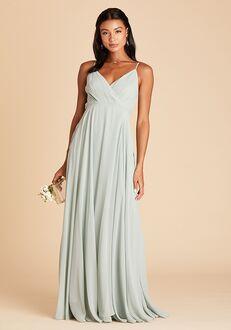 Birdy Grey Kaia Dress in Sage V-Neck Bridesmaid Dress