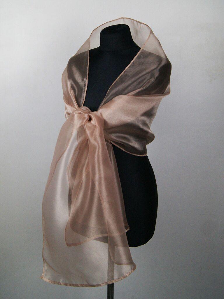 organza bridesmaid shawl
