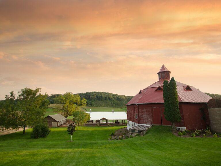 Fall wedding venue in Pepin, Wisconsin.