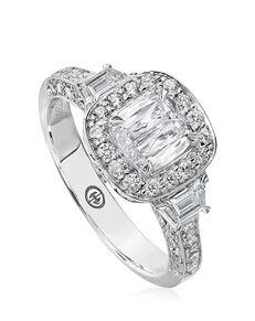 Christopher Designs Vintage Cushion Cut Engagement Ring