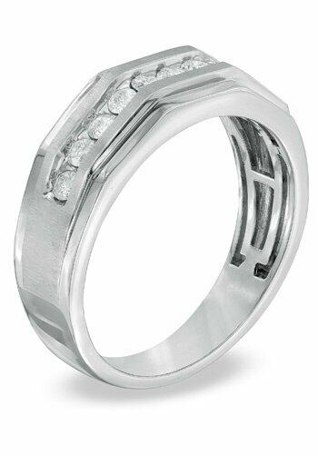 zales men 39 s 1 ct t w diamond ring in 10k white gold. Black Bedroom Furniture Sets. Home Design Ideas