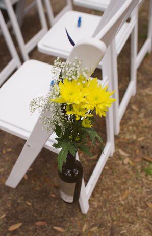 Yellow Wildflower Aisle Marker